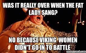 Fat Lady Meme - lady sings