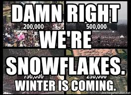 Meme Creator Winter Is Coming - damn right we re snowflakes winter is coming wm 2017 meme