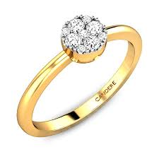 daimond ring diamond yellow gold 18k eily ziah diamond ring candere