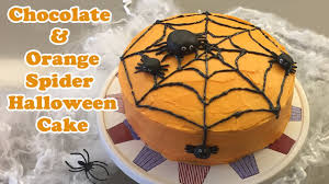 chocolate halloween cakes chocolate u0026 orange spider web halloween cake cheeky crumbs youtube