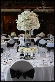 wedding flowers surrey modern white black wedding flowers the flower company
