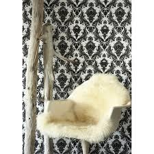 tempaper damsel whhite and black wallpaper tempaper designs