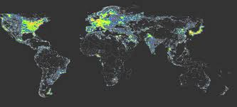 Sattelite World Map by The World Atlas Of The Artificial Night Sky Brightness