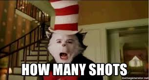 Cat In The Hat Meme - how many shots mike myers cat in the hat meme generator