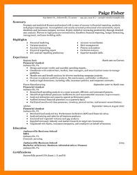 8 finance analyst resume mla cover page