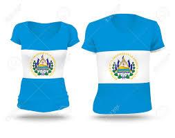 Chicago Flag Apparel Flag Shirt Design Of El Salvador Vector Illustration Royalty
