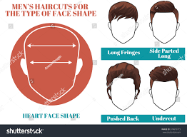 Hairstyle For Face Shape Men by Different Types Haircuts Heart Face Shape Stock Illustration