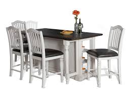 sunny designs bourbon county 5 piece kitchen island u0026 chair set