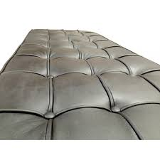 Barcelona Leather Bench Mies Van Der Rohe Black Interior Secrets