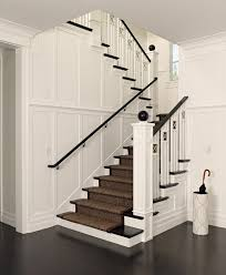 espresso wood stained staircase staircase victorian with spindle