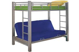 Kids Metal Futon Bunk Bed Roboto Silver The Futon Shop - Metal bunk bed with desk