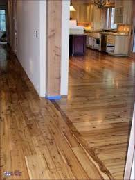 simple way to transition from one type of hardwood floors to