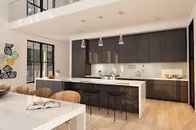 cuisine avec brique cuisine cuisine en brique avec gris couleur cuisine en brique