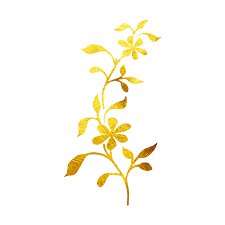 temporary floral vine design 24k yellow gold