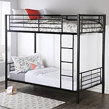 best deals for buying matress on black friday in reston amazon com walker edison twin over twin metal bunk bed black