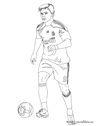 christiano ronaldo playing soccer coloring pages hellokids com