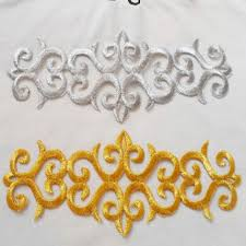 aliexpress buy new arrival 10pcs silver gold aliexpress buy golden applique lace embroidery gold and
