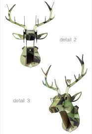 modern animal head home decor deer head wall art decor buy home