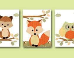 Raccoon Nursery Decor Nursery Canvas Etsy