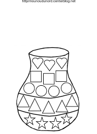 vase en coloriage en couleur et pour es gommettes