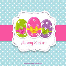 free easter cards easter card with easter eggs vector free easter