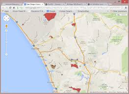 San Jose University Map by Internet Mapping Services For San Diego Wildfire 2007 By