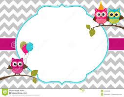 owls invitation template stock vector image 41928268