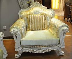 Gold Fabric Sofa 1 2 3 Seat Lot Import Gold Fabric Sofa Set For Big Villa Living Room Ce Jpg