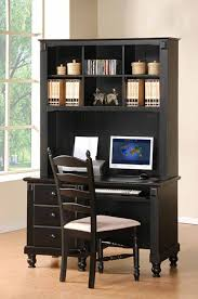 black desk with hutch black desk hutch modern hutches at office depot in voicesofimani com