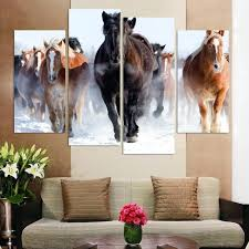 wall ideas bedroom decor 2 piece wall art snow pictures horse