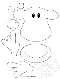 rudolph face template coloring page