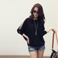 tops online fashion women s trendy three quarter sleeve t shirt batwing