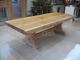 Rustic Oak Bespoke Refectory Table Waney Edges Restorabilia - Rustic oak kitchen table
