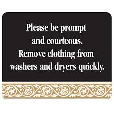 remove clothes laundry room sign free shipping remove clothes promptly black