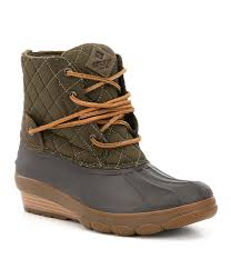 s boots wedge sperry s saltwater wedge tide quilted duck boots