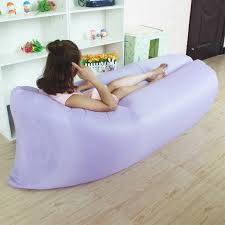 Blow Up Beach Chair by Portable Camping Lounger Sofa Inflatable Sleeping Bag Beach