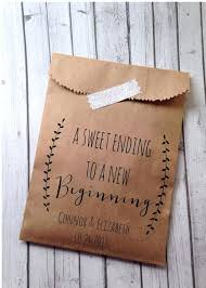 personalized wedding favor bags what to write on wedding favors wedding favor bags laurel rustic