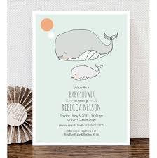 whale baby shower invitations baby shower invitation custom print ready shower