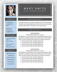 teachers resume template resume template word resume template start