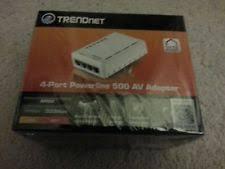 tpl 4052e trendnet 4 port 500 mbps powerline ethernet av adapter tpl 405e