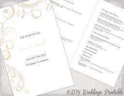 catholic mass wedding program catholic wedding program template chagne scroll