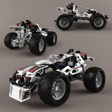 lego technic lego technic quad bike alternative model 3d model max obj fbx mtl