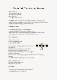 Resume Sample Lab Technician by Sample Resume For Lab Technician