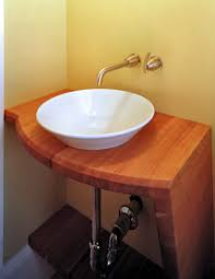Salvaged Sink Wood Countertop These Sinks Are Popular Options For Bathroom