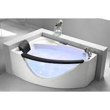 eago am198 r 5 u0027 right drain rounded clear modern corner whirlpool bath