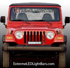 jeep wrangler tj light bar how to choose a led light bar mount location extreme led light bars