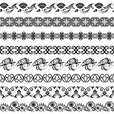 black and white border ornaments vector template stock vector
