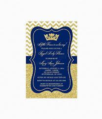 royal blue and gold baby shower prince baby shower invitation boy prince crown royal