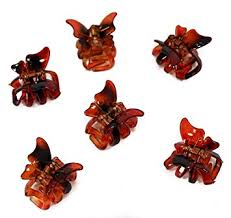 butterfly hair set of 6 mini 2cm butterfly hair claws brown co uk