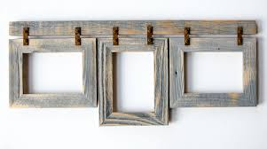 barnwood collage frame 3 5x7 multi opening frame rustic
